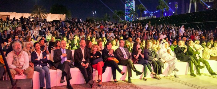 Performance by Algerian artist Souad Massi in Kuwait City's Al Shaheed Park, organized by Nuqat.