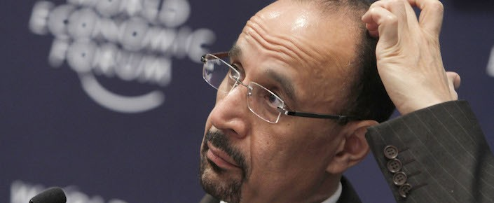 Khalid al-Falih, Saudi Arabia's newly appointed energy minister, at the World Economic Forum in 2011. (AP Photo/Virginia Mayo)