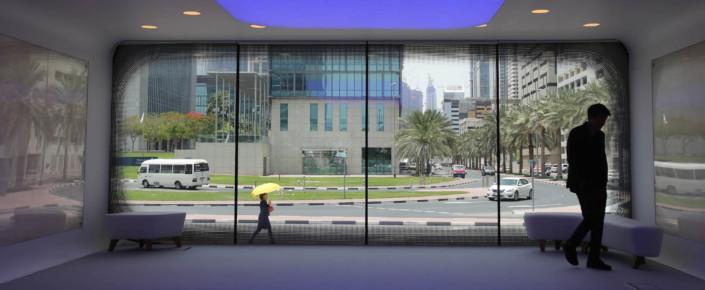 رجل يتجوّل داخل أول مبنى إداري في العالم مطبوع بالكامل بتقنية الطباعة الثلاثية الأبعاد في دبي، في الإمارات العربية المتحدة، في 31 آذار /مارس 2016. (صورة من وكالة الأسوشيتد برس/ كمران جبريلي) التكنولوجيا