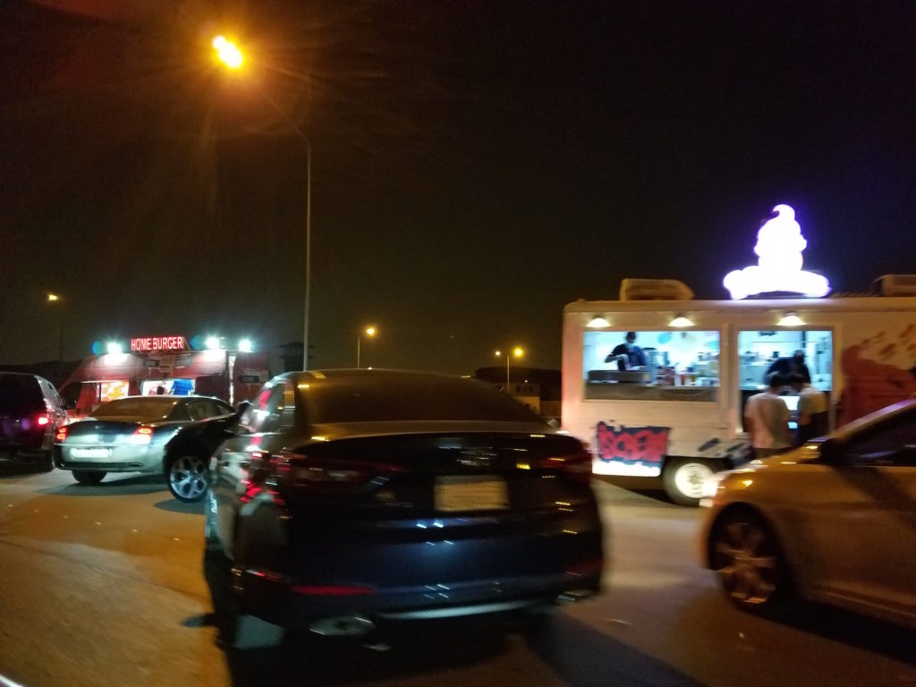 Various food trucks in Riyadh