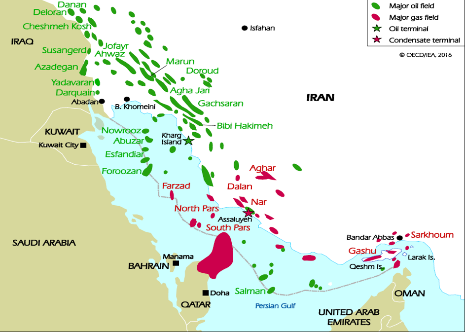 Iran Major Oil and Gas Fields