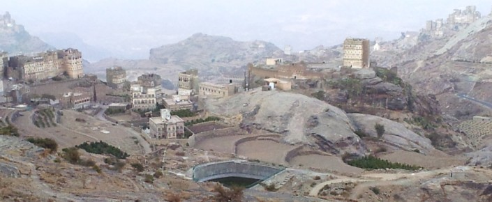 Water reservoir in Yemen