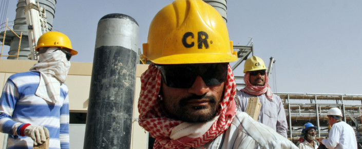 Oil worker in Khurais