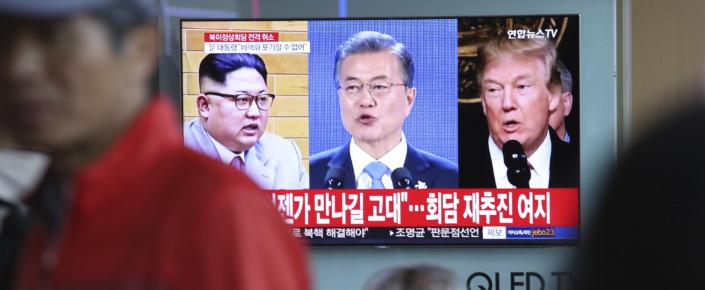 Donald Trump,Kim Jong Un,Moon Jae-in