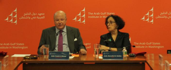 Ambassador Frank Wisner and Ambassador Marcelle Wahba