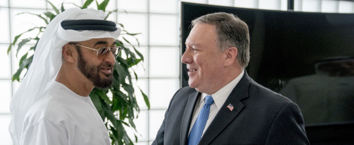 Mohammed bin Zayed and Mike Pompeo